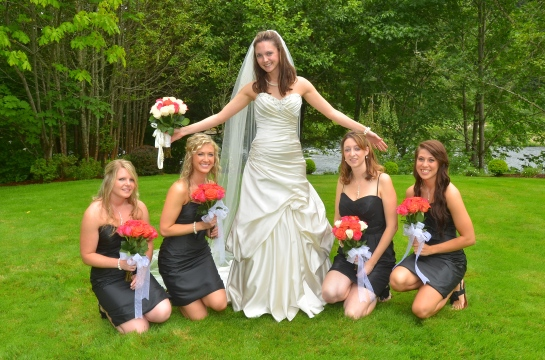 Heather's stunning bridesmaids...!!!!